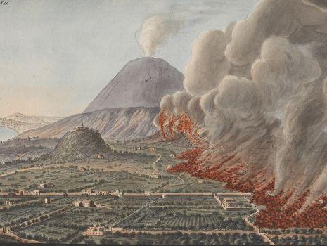 [Eruption des Vesuv zwischen 1760 und 1761], William Hamilton: Campi Phlegraei