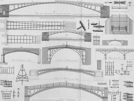 [Skizzen verschiedener Bogenbrücken], Carl Friedrich Wiebeking: Theoretisch-practische Wasserbaukunst