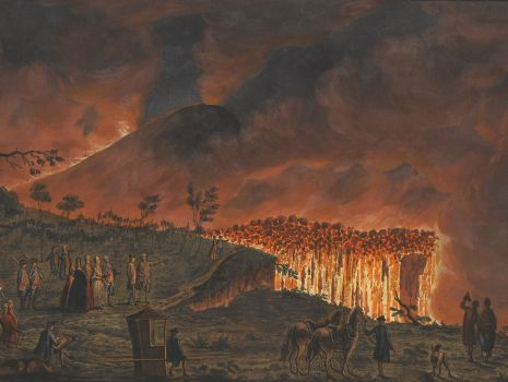 [Lavafluss beim Vesuv], William Hamilton: Campi Phlegraei