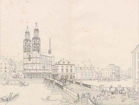 Münsterbrücke in Zürich, Alois von Negrelli: Münsterbrücke in Zürich