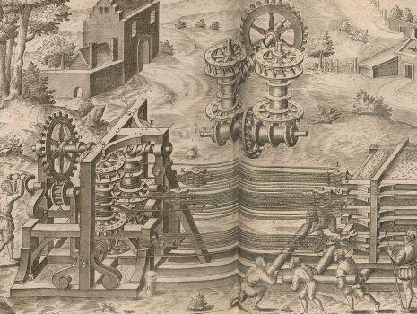 [Maschine für den Transport schwerer Gegenstände], Le diverse et artificiose machine del capitano Agostino Ramelli