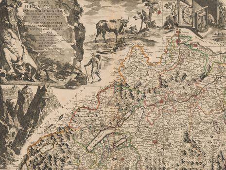 Nova Helvetiae tabula geographica, Johann Jakob Scheuchzer: Nova Helvetiae tabula geographica