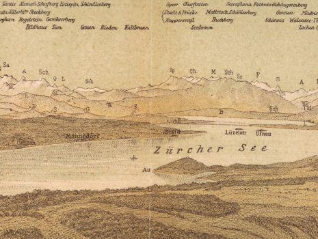 Alpen-Ansicht von der Albis- oder Schnabel-Hochwacht, Johann Jakob Hofer: Alpen-Ansicht von der Albis- oder Schnabel-Hochwacht