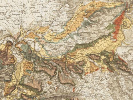 Karte der fluvioglacialen Ablagerungen in der Nordschweiz, Karte der fluvioglacialen Ablagerungen in der Nordschweiz
