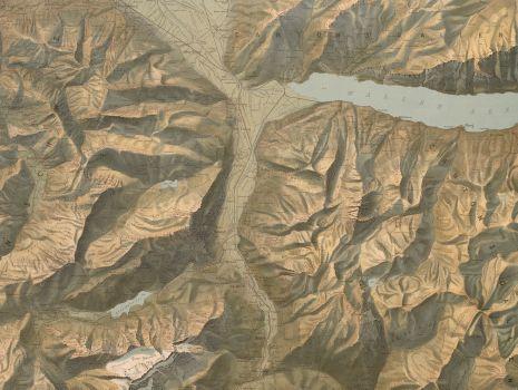 Relief-Karte des Kantons Glarus, Fridolin Becker: Relief-Karte des Kantons Glarus