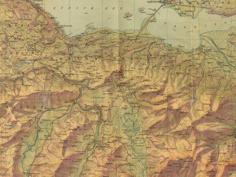Karte des Bezirkes Einsiedeln, Karte des Bezirkes Einsiedeln