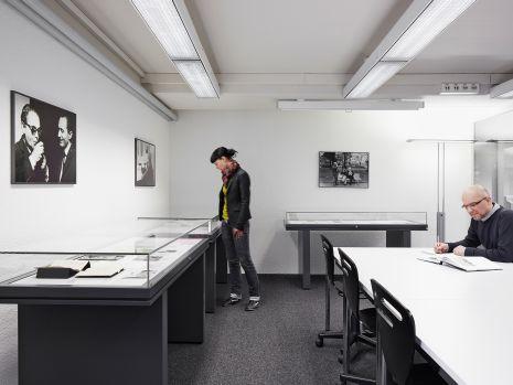 null, Der Lesesaal des Max Frisch-Archivs an der ETH-Bibliothek