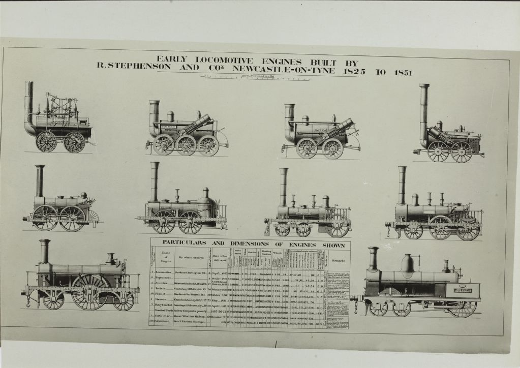 Early locomotive engines built by R. Stephenson and Co. Newcastle-on-Tyne 1825
