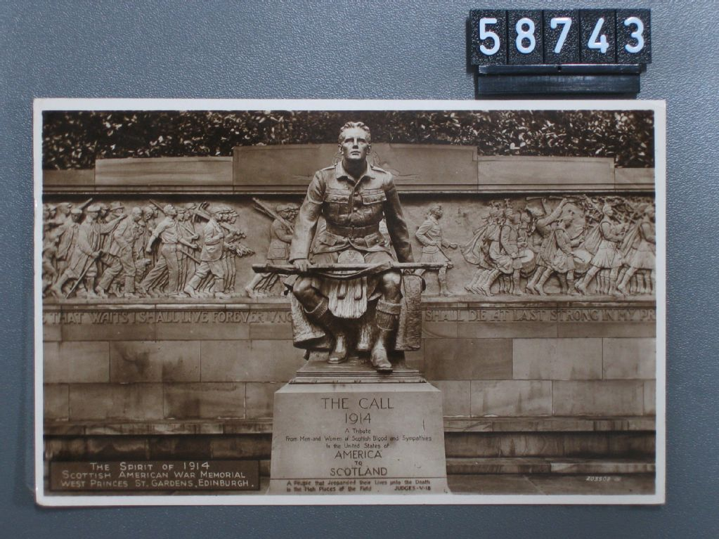 Edinburgh, The Spirit of 1914, Scottish American War Memorial, West Princes St. Gardens