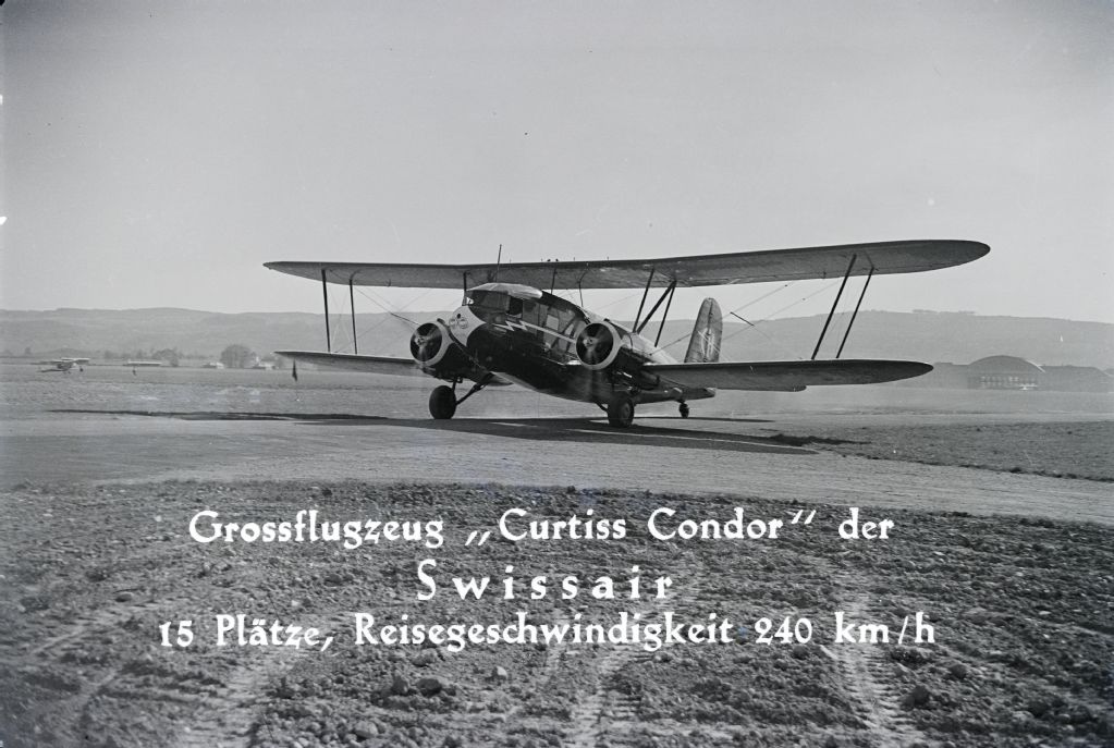 Curtiss AT-32C Condor, CH-170 (HB-LAP) am Boden in Dübendorf